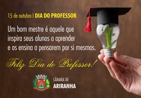 15 de outubro I DIA DO PROFESSOR