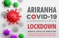 Ariranha decreta lockdown para conter coronavírus