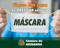 Coronavírus: pessoas devem usar máscaras ao sair de casa