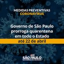 Doria prorroga quarentena por mais 15 dias em São Paulo