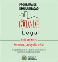 Prefeitura regulariza imóveis pelo programa Cidade Legal